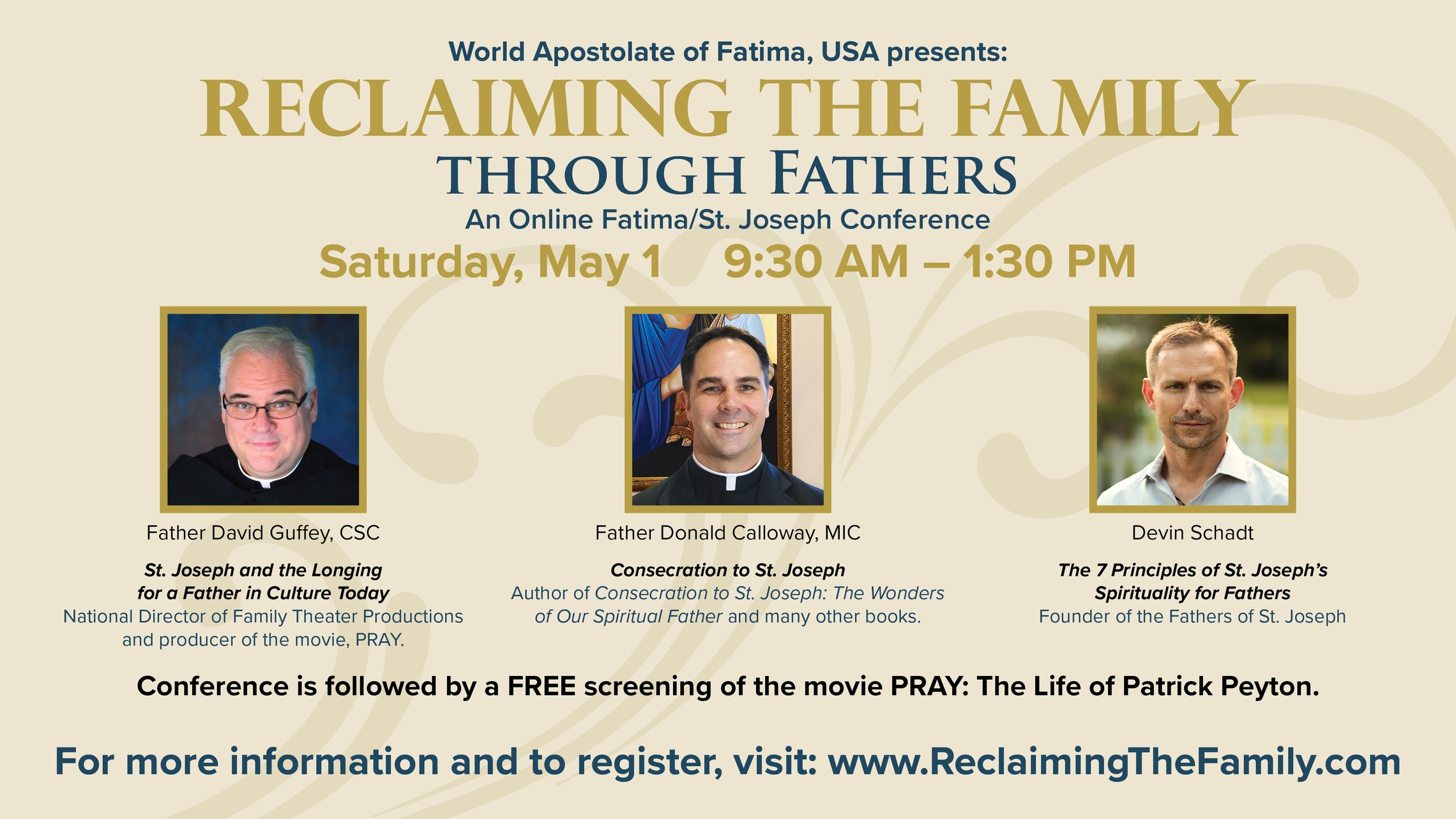 May 1 Reclaiming The Family Conference