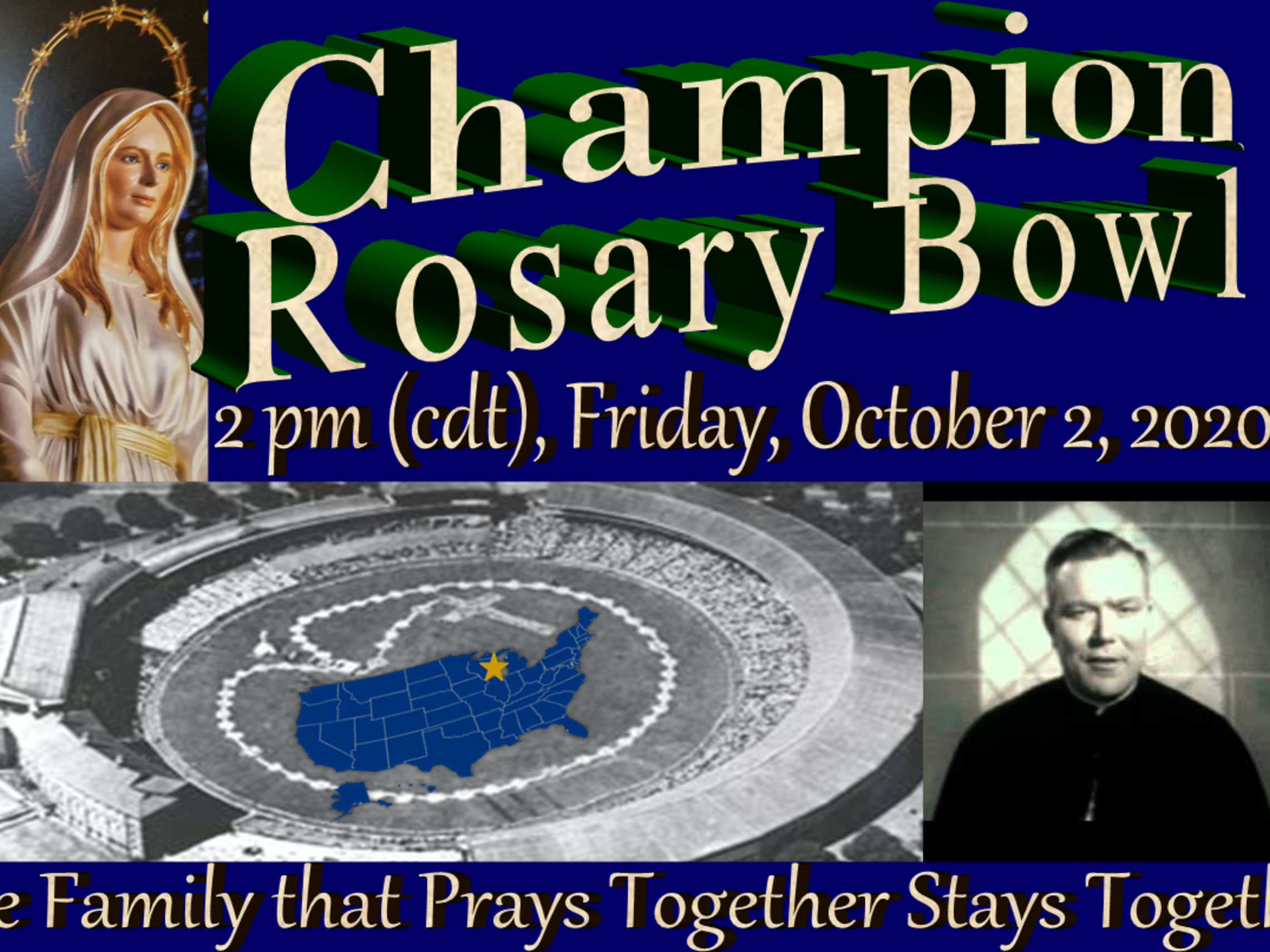 Champion Shrine Rosary Bowl Half Copy